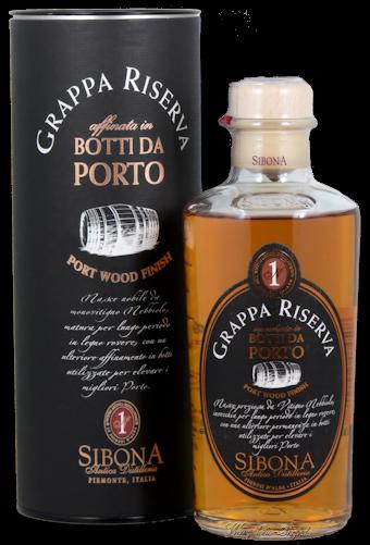 Sibona Grappa Riserva Botti da Porto 40% vol. 0,5l