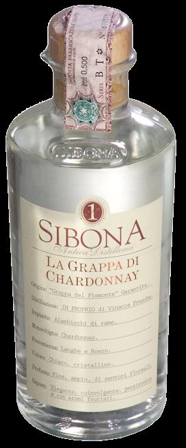 Sibona Grappa di Chardonnay 40% vol. 0,5l