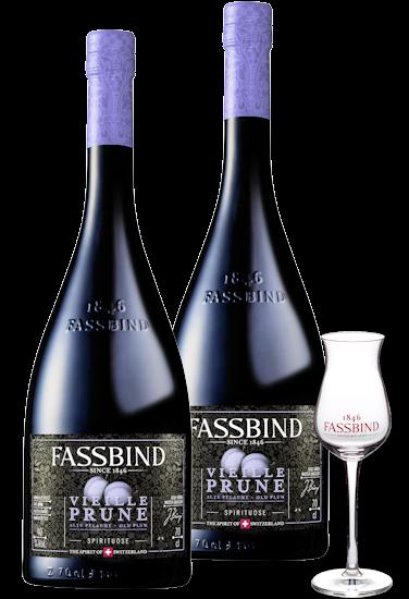 Fassbind Vieille Prune Genießer Paket 40% vol.