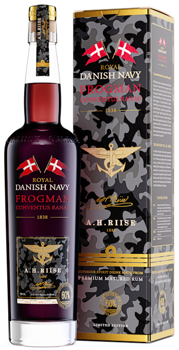 A.H. Riise Danish Navy Frogman Edition Rum 58% vol. 0,7l