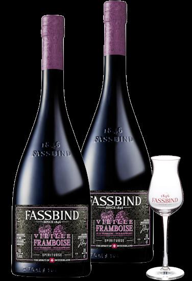 Fassbind Vieille Framboise Genießer Paket 40% vol.