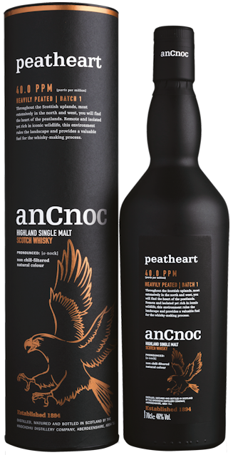 anCnoc Peatheart Single Malt Scotch Whisky 46% vol.