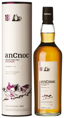 anCnoc 18 Years Old Single Malt Scotch Whisky 46% vol.