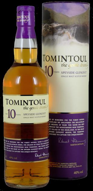 Tomintoul Single Malt Scotch Whisky 10 Jahre 40% vol. 0,7l