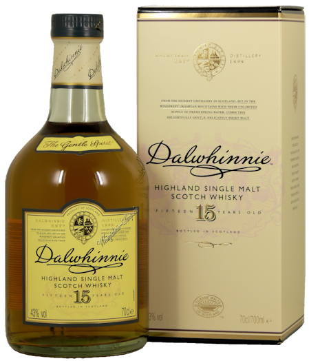 Dalwhinnie Whisky 15 Jahre 43% vol. 0,7l