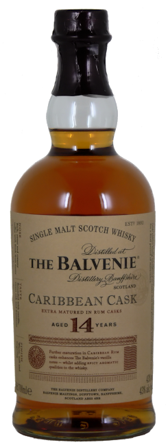 Balvenie Caribbean Cask Whiskey 14 Jahre 43% vol. 0,7l.