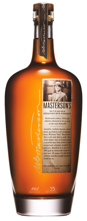 Mastersons 10 Jahre Straight Rye Whiskey 45,0% vol. 0,7l